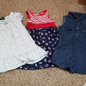 Other - LOT 3t 2Girls dress and a Polo romper !!!